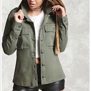 Forever 21   Green denim Jacket  Size M